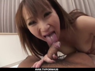 Anna Mizukawa delights with two big Asian cocks on cam