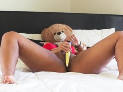 Hot Wife Masturbates With Golden Dildo