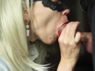Hot Secretary Sucks Big Dick of Her Boss And Swallow Sperm