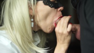 Hot Secretary Sucks Big Dick of Her Boss And Swallow Sperm