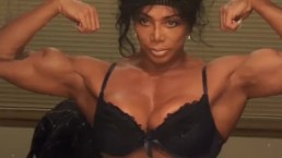 Female Bodybuilder Latia Flexes Huge Muscles @ clips4sale/studio/42900