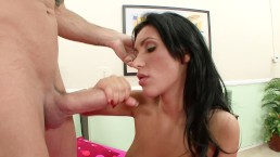 Petite Cougar Wife Gets Fucked In Front Of Cuckold Husband