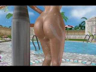 Samus In Shower