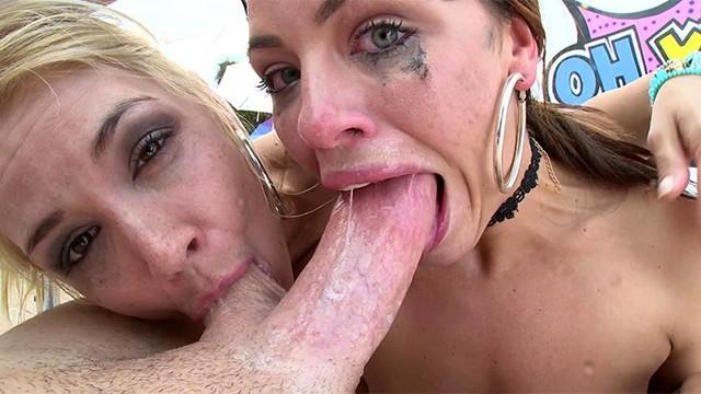 Sarahs deepthroat Swallowed adriana and sarah sloppy deepthroat blowjob