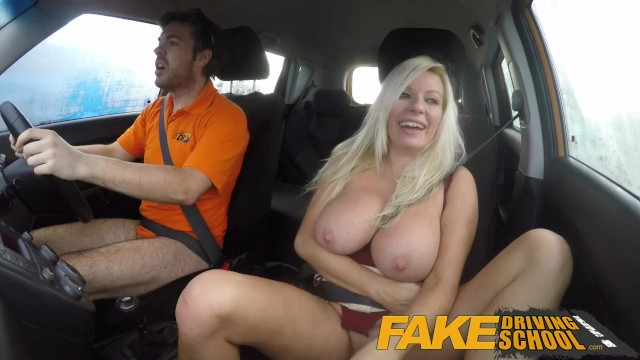 Fake Driving School Squirting Big Tits Milf Gets Creampie -9015