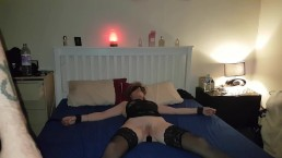 sexy zona przywiazana i 3 zabawki byly używane orgazm