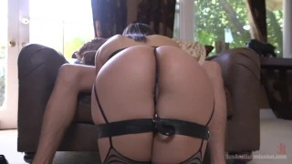 Sexual Objectification  pain slut big ass ball gag high heels slave fetish big dick nipple clamps brunette bondage curvy sexandsubmission gag leather pain submission abella danger