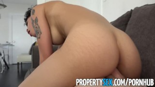 PropertySex - Hot tenant cheats on DJ boyfriend with landlord Japanese blowjob