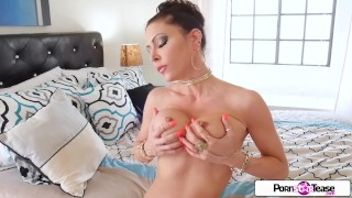 Jessica Jaymes massage her sexy tight body and wet pink pussy for you