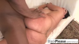 Busty brunette Angelina gets Prince's cum in her mouth