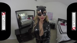 Preview 2 of VR Sex With A Hot Catwoman Carmen Caliente Only on VRCosplayX.com