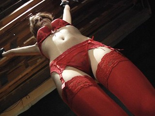 Red Lingerie BDSM Slave Teen gets punished and spanking on her perfect ass