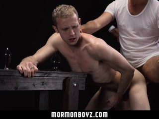 Mormonboyz - Daddy punishes young stud on the priesthood stretcher
