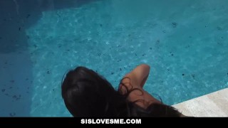 SisLovesMe - Surprised My Stepsis With Cock  step siblings point of view ebony black cumshot pov stepbro smalltits interracial shaved sislovesme stepsis bigcock step brother vienna black step sister