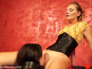 Mona Wales plays with new pet slave Juliette Marsh main image