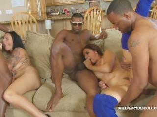 Penius sucking sheena ryder has a bbc orgy with her girlfriends sheenaryderxxx group b