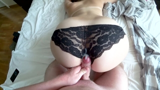 I love to wake up from dick in my pussy Sex creampie