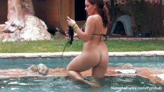 Nice has pool fun natasha by summer the some solo busty solo masturbation