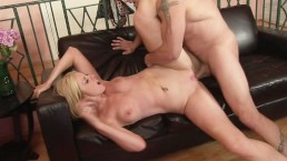 Hot Blonde Petite MILF Gets Her Ass Fucked By Hubby's Best Friend
