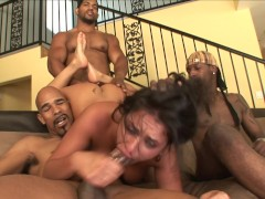 Chubby Black Cock Whore PAWG Charley Chase Gets BBC Gangbang