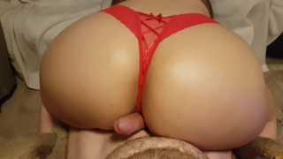 Sexy thong on cock red big pov ass assjob shakes booty oiled grinds in and pawg white