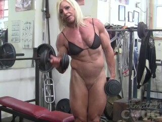 amateur. masturbation. blonde.  @FemaleMuscleNet