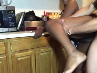 STEP-DAD BENDS ME OVER THE SINK AND CUMS ON MY ASS