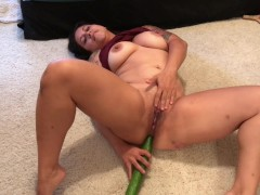 Anal masturbation with my fingers and a cucumber!
