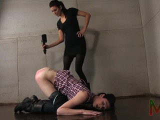 Princess Donna torments submissive tranny Mandy Mitchell