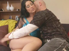 Big Booty Latina MILF SLide Big White Cock In Pussy