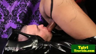 Blown domina after trap getting whipping feet spanking