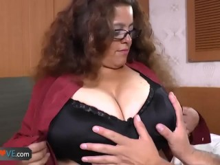 AgedLovE Latina Chubby Granny Fucking Youngster