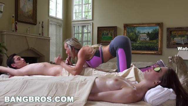 Banging busty brunettes beautifulagony Bangbros - brandi love gets happy ending from milf brandi love bbc16024