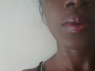 Lip gloss...lip playing