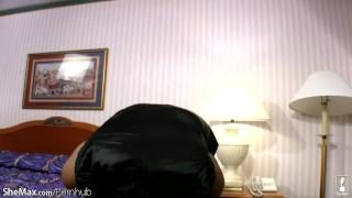 Hair chubby ebony ts in pov white dick and wanks sucks black big view