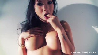 Porn legend Asa Akira lends herself a hand  babe masturbating asian masturbate solo puba asaakira skinny brunette asafucks adult toys masturbation solo girl pornstar tattoo toys hardcore japanese sex toys