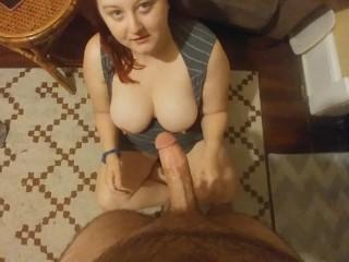 Best Big White Ass Girl Sucks & Fucks