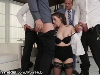 Sex Teen Tube Latina Fucking, A Regular Day getting Gangbanged at Work Brunette Pornstar Euro Double