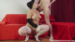 BBW Gets Tight Anal Sex Action From A Big Hard Dick