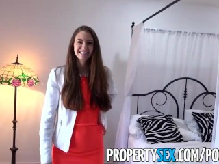 Preview 2 of PropertySex - Real estate agent fucks film producer client