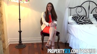 Preview 3 of PropertySex - Real estate agent fucks film producer client