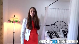 PropertySex - Real estate agent fucks film producer client In riding