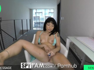 SpyFam Webcam stepsister Rina Ellis blackmailed into fuck and creampie