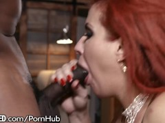 All Porn Tube Throated Eager MILF Gags on BBC BBC - Big Black Cock
