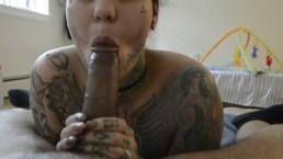 Tattooed Milf Sucks and Fucks
