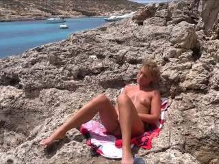 Masturbation at the seaside