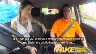 Preview 2 of Fake Driving School Messy creampie advanced lesson for tattooed thot