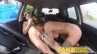 Preview 3 of Fake Driving School Messy creampie advanced lesson for tattooed thot