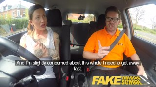 Fake Driving School Messy creampie advanced lesson for tattooed thot Sex sex