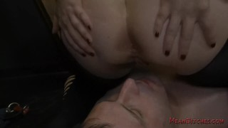 Mistress Aiden Starr Makes Her Slave Worship Her Beautiful Ass - Femdom  big tits slave bdsm bbw femdom kink curvy mistress asshole closeup big boobs asslicking aiden starr dungeon natural tits meanbitches domme ass eating